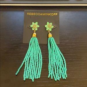 Rebecca Minkoff Calla Beaded Tassel Drop Earrings